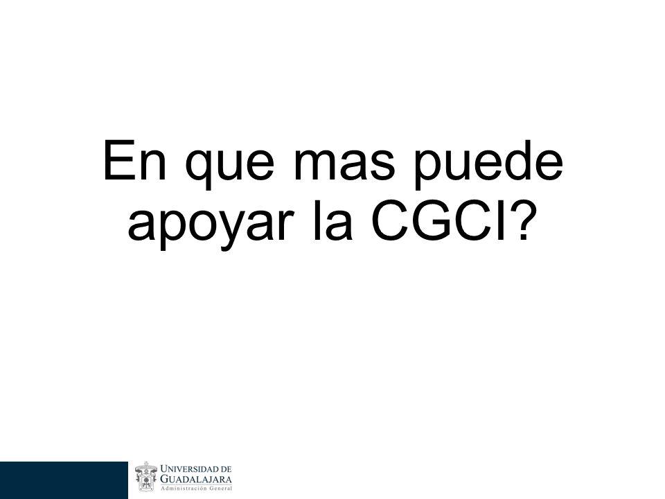 En que mas puede apoyar la CGCI