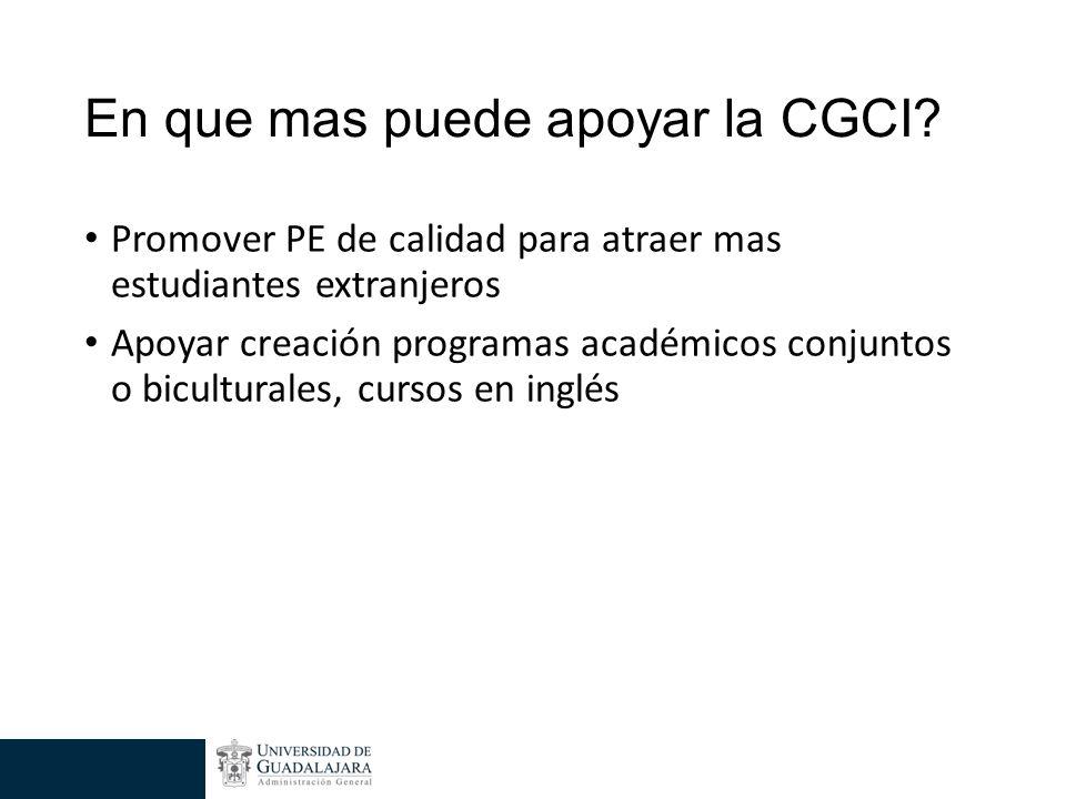 En que mas puede apoyar la CGCI.