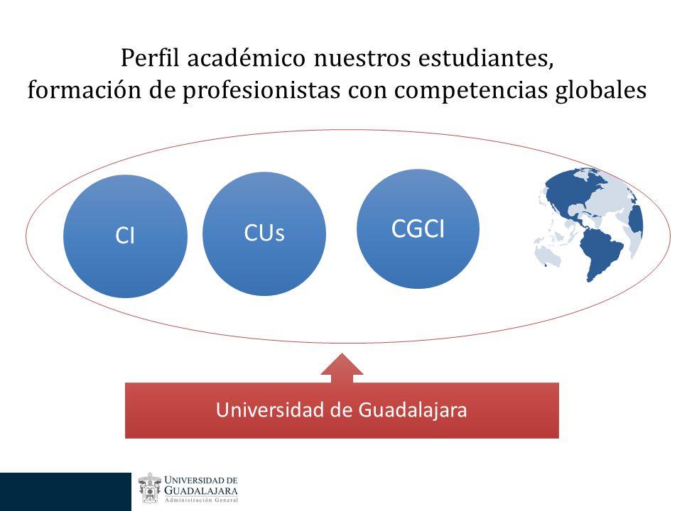 CGCI CUsCI Perfil académico nuestros estudiantes, formación de profesionistas con competencias globales Universidad de Guadalajara