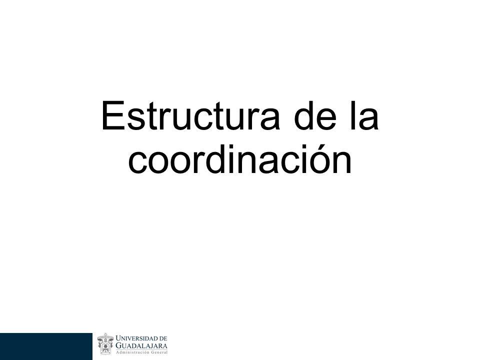 Estructura de la coordinación