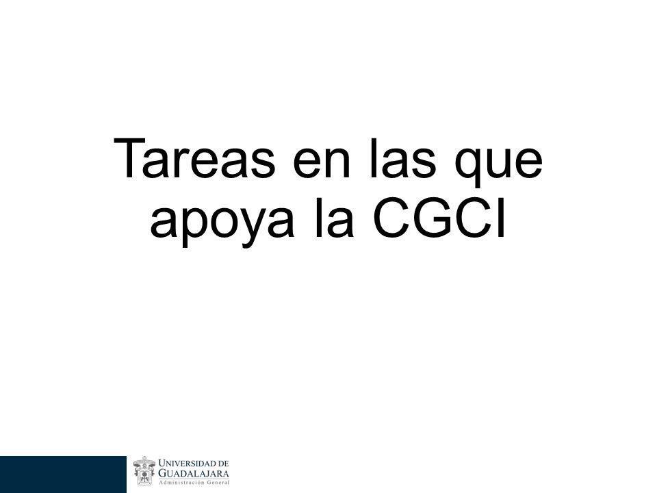 Tareas en las que apoya la CGCI