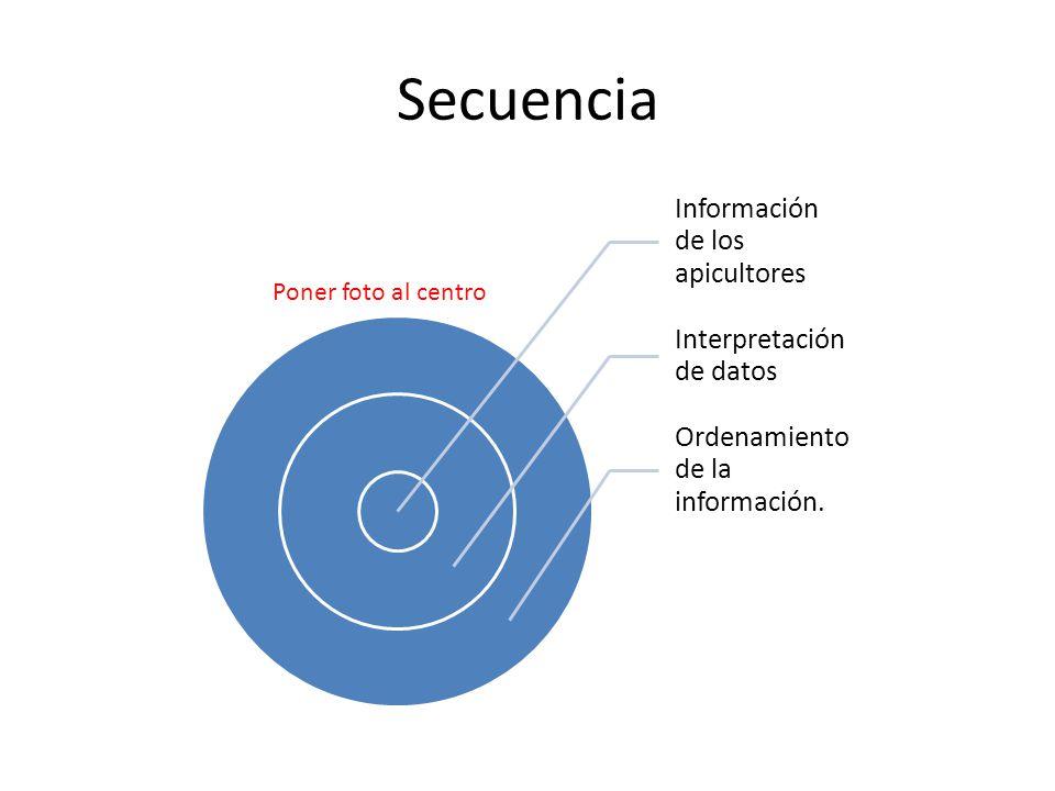 Secuencia Información de los apicultores Interpretación de datos Ordenamiento de la información.