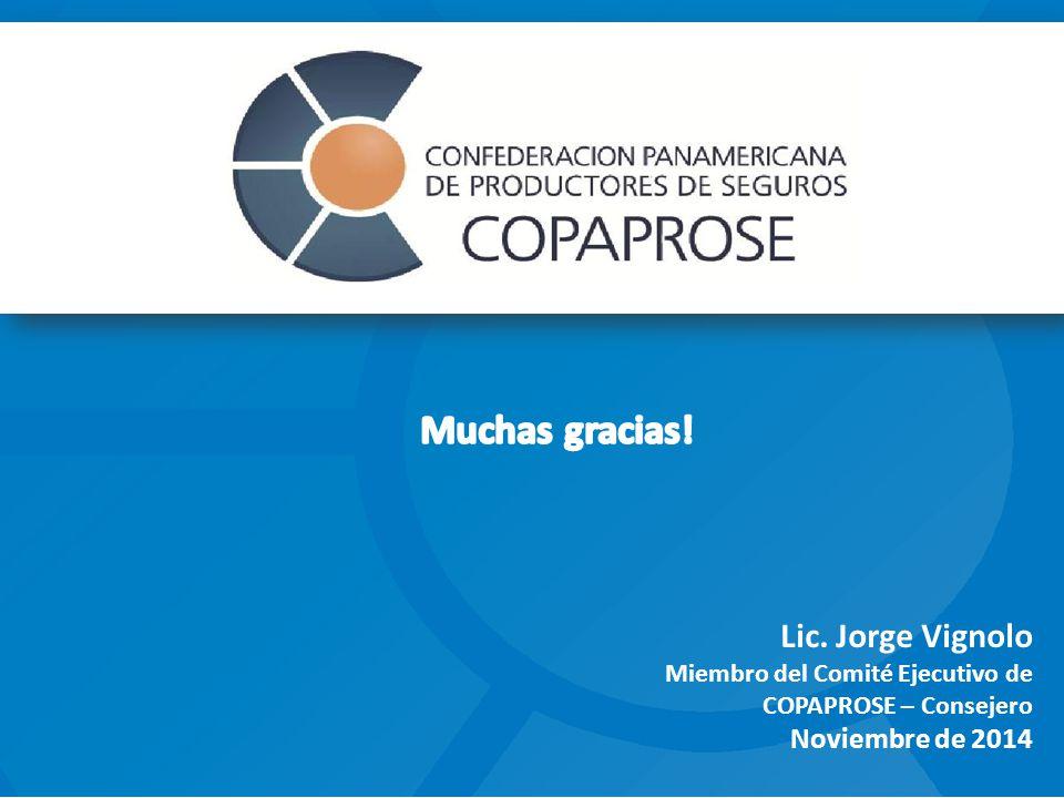 Lic. Jorge Vignolo Miembro del Comité Ejecutivo de COPAPROSE – Consejero Noviembre de 2014
