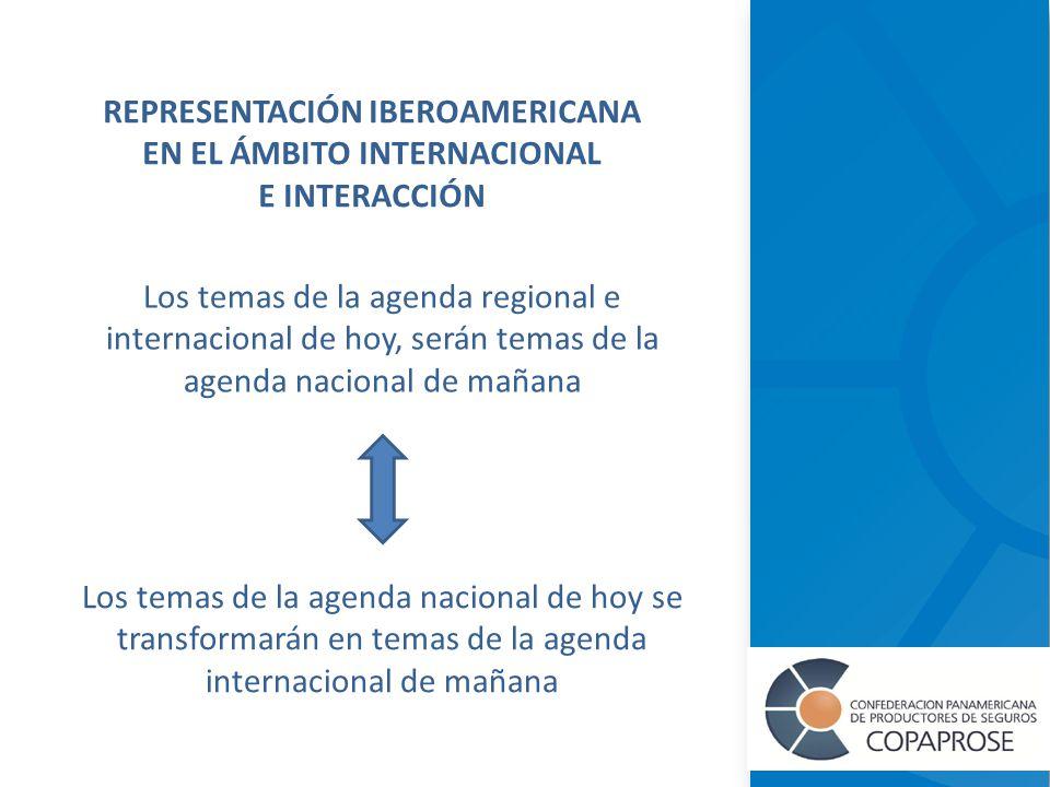 Los temas de la agenda regional e internacional de hoy, serán temas de la agenda nacional de mañana REPRESENTACIÓN IBEROAMERICANA EN EL ÁMBITO INTERNACIONAL E INTERACCIÓN Los temas de la agenda nacional de hoy se transformarán en temas de la agenda internacional de mañana