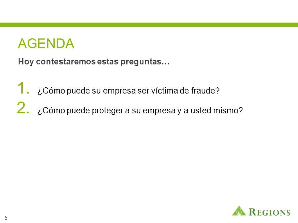 1. ¿Cómo puede su empresa ser víctima de fraude. 2.