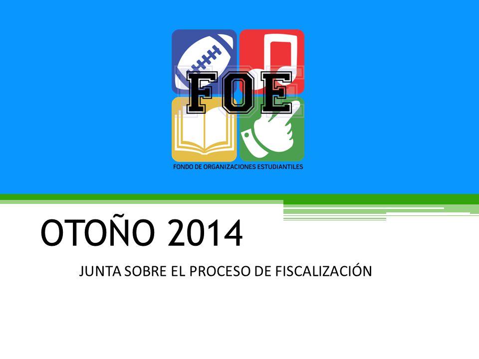 OTOÑO 2014 JUNTA SOBRE EL PROCESO DE FISCALIZACIÓN
