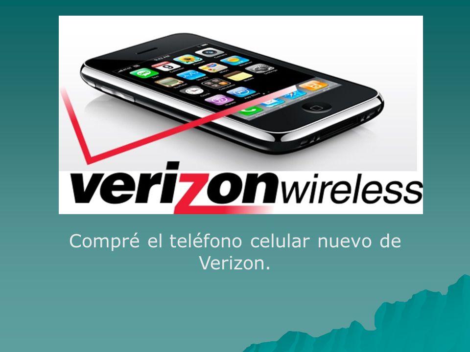Compré el teléfono celular nuevo de Verizon.