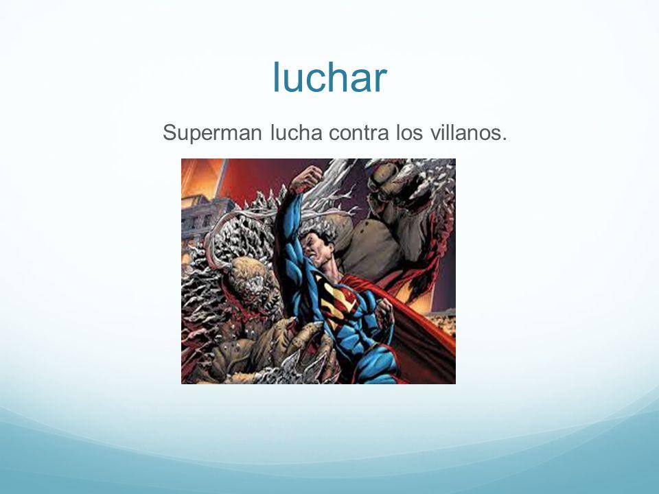 luchar Superman lucha contra los villanos.
