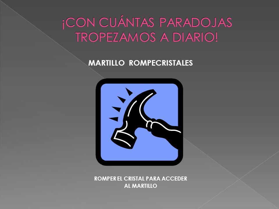 MARTILLO ROMPECRISTALES ROMPER EL CRISTAL PARA ACCEDER AL MARTILLO