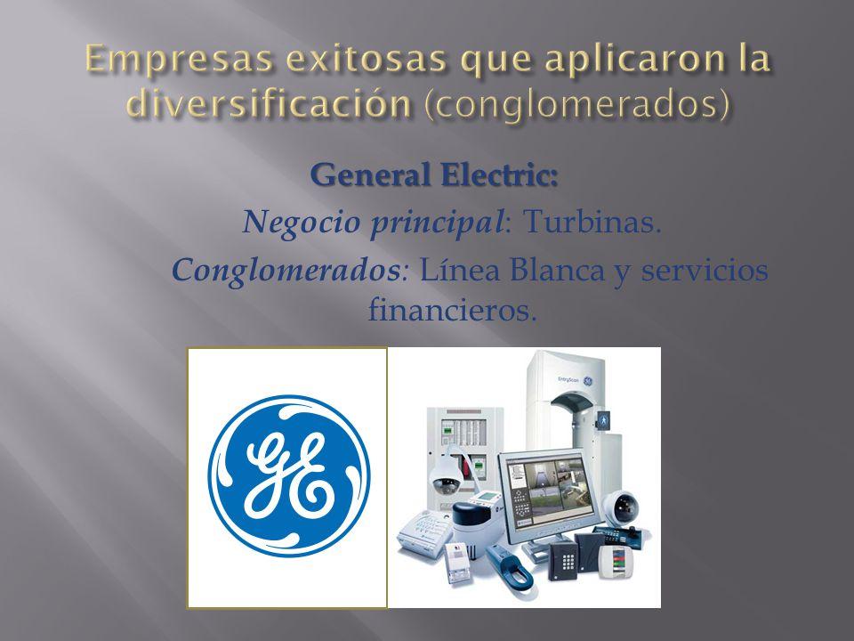 General Electric: Negocio principal : Turbinas.