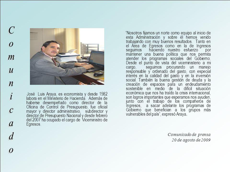 José Luis Araya, es economista y desde 1982 labora en el Ministerio de Hacienda.