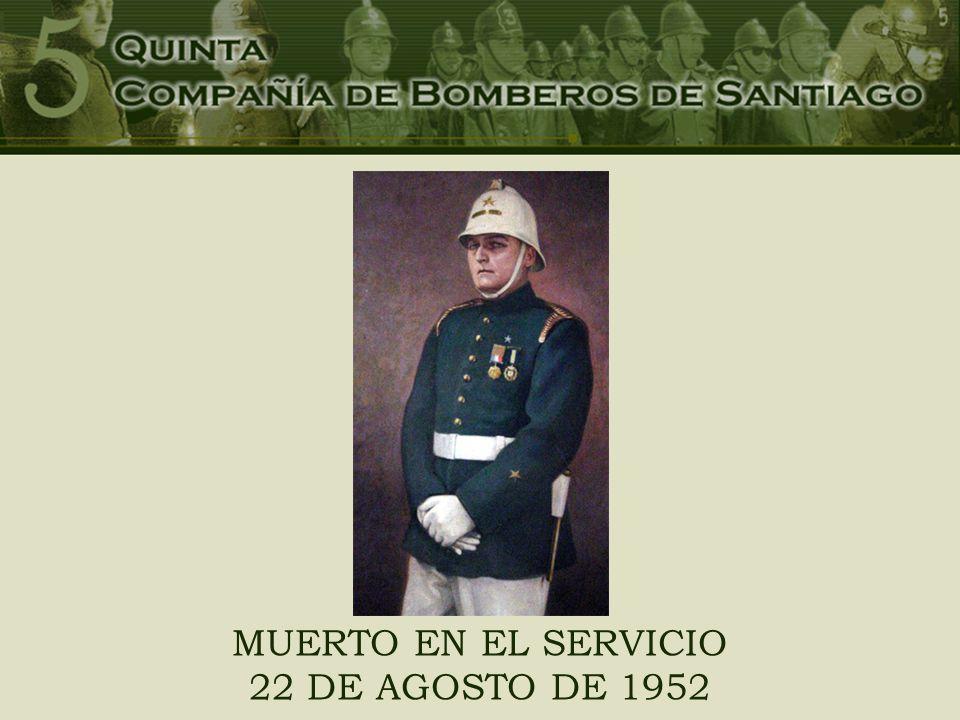 MUERTO EN EL SERVICIO 22 DE AGOSTO DE 1952
