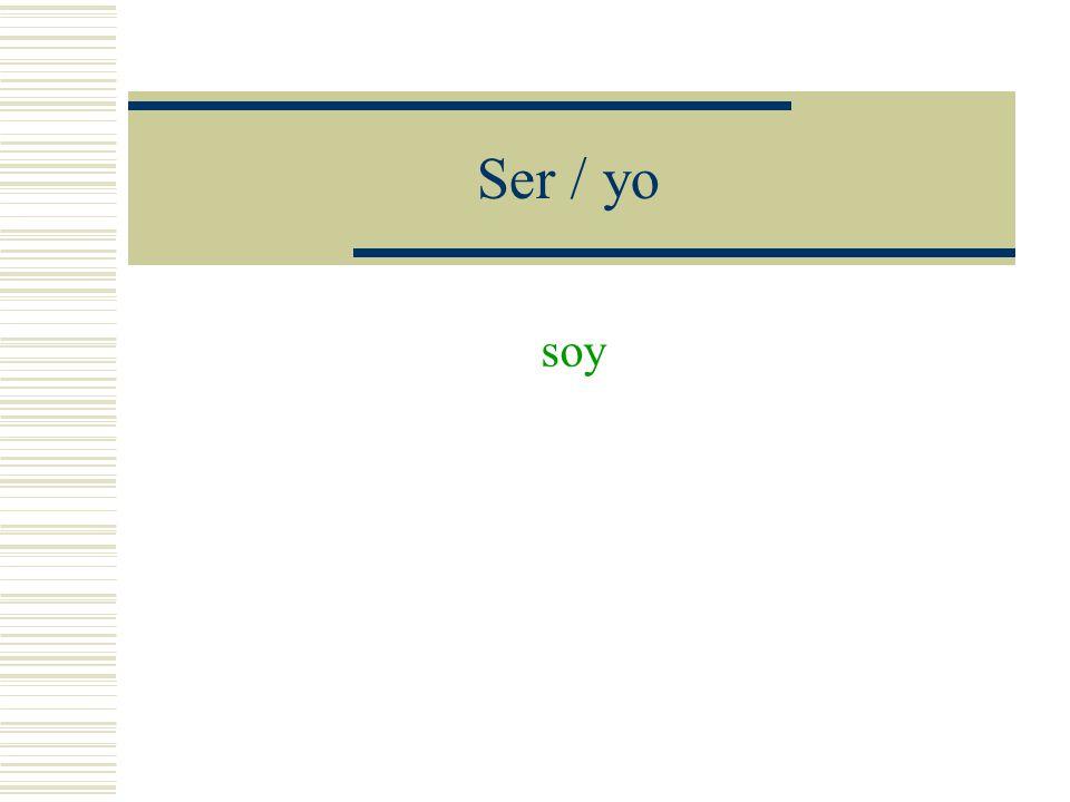 Verbos irregulares Conjugue los verbos en el tiempo presente indicativo.