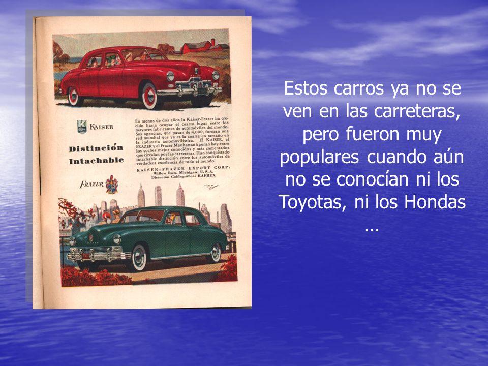 Estos carros ya no se ven en las carreteras, pero fueron muy populares cuando aún no se conocían ni los Toyotas, ni los Hondas …