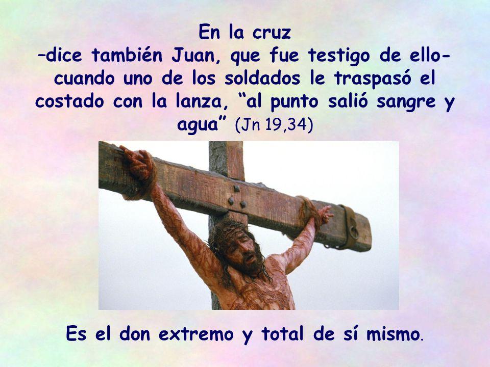 Todo lo que Él da es vivo y para la vida: Él mismo es el pan vivo, es la palabra que da la vida, es simplemente la Vida.