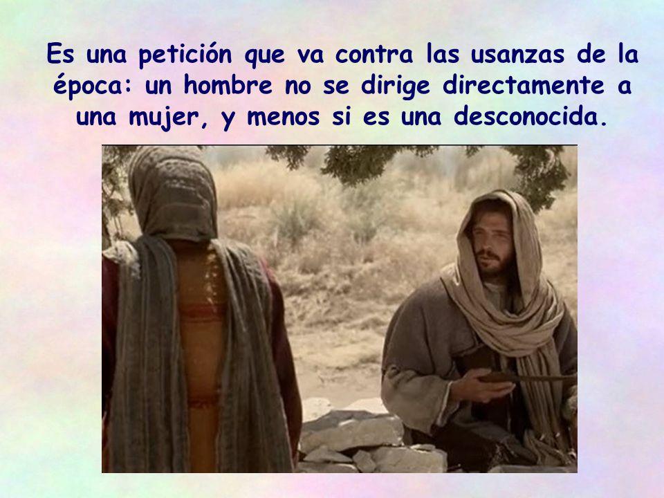 Sus discípulos han ido al pueblo a comprar algo de comer, Jesús se ha quedado solo.