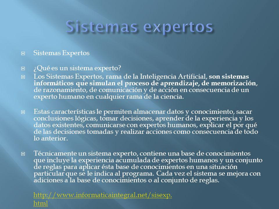  Sistemas Expertos  ¿Qué es un sistema experto.