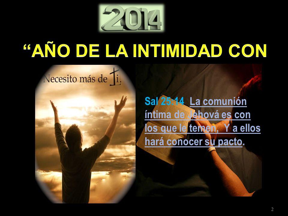 2 Sal 25:14 La comunión íntima de Jehová es con los que le temen, Y a ellos hará conocer su pacto.