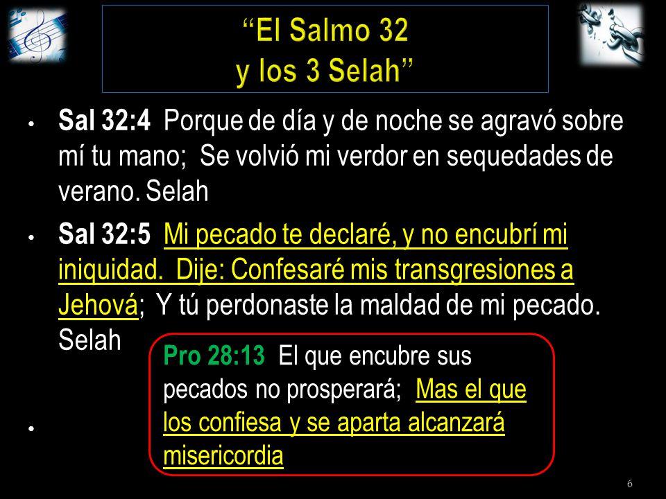 6 Sal 32:4 Porque de día y de noche se agravó sobre mí tu mano; Se volvió mi verdor en sequedades de verano.