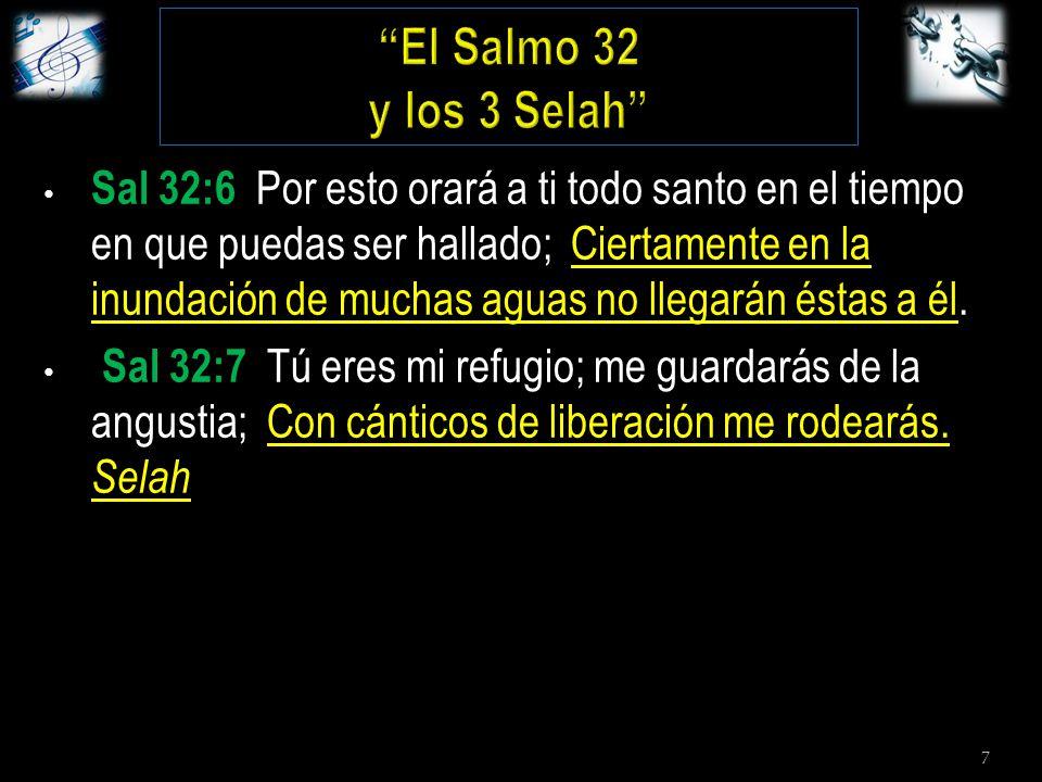 7 Sal 32:6 Por esto orará a ti todo santo en el tiempo en que puedas ser hallado; Ciertamente en la inundación de muchas aguas no llegarán éstas a él.