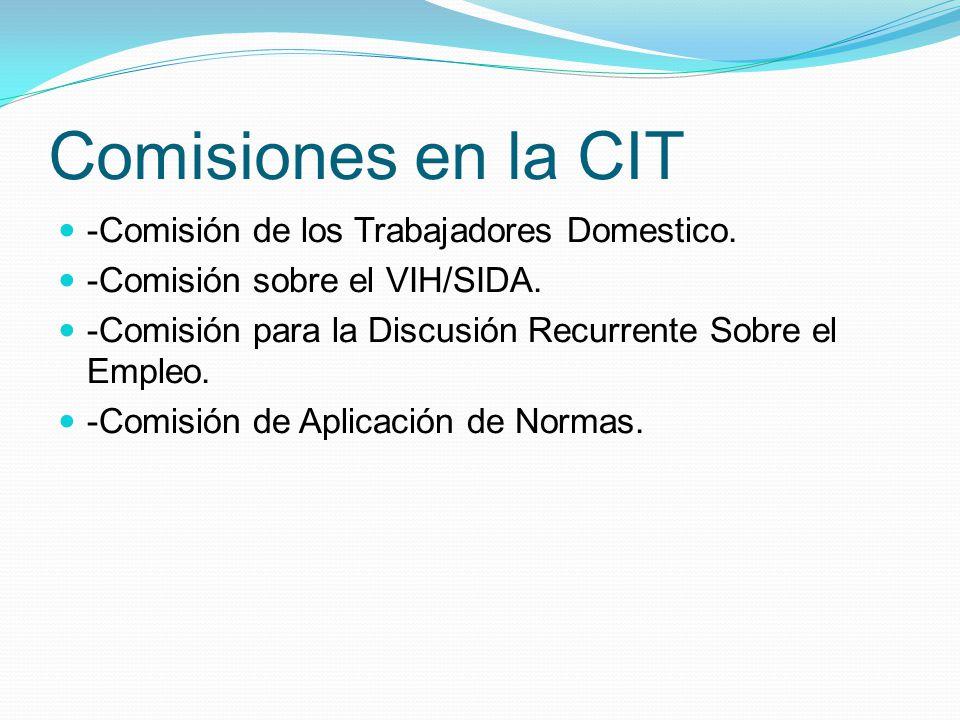 Comisiones en la CIT -Comisión de los Trabajadores Domestico.