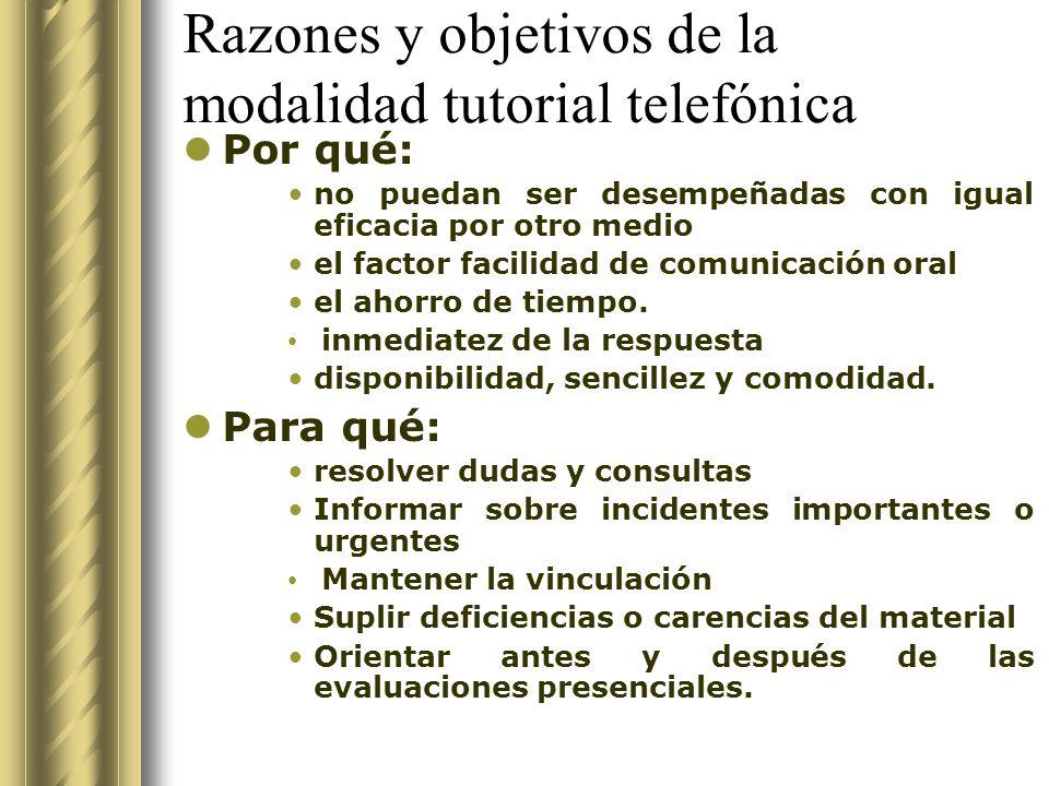 Tutorías, medios y administración Aspectos Administrativos Tareas del Tutor/a - Tutoría telefónica, por computadora con página web, correo electrónico y chat.