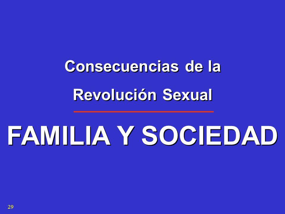 Consecuencias de la Revolución Sexual FAMILIA Y SOCIEDAD Consecuencias de la Revolución Sexual FAMILIA Y SOCIEDAD 29
