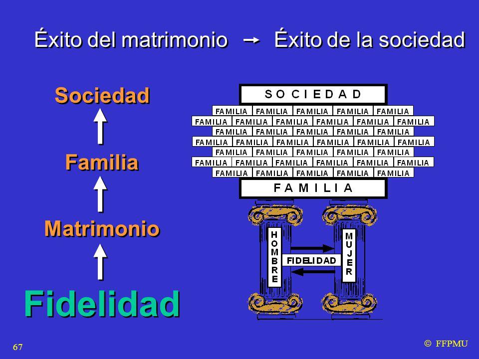 Éxito del matrimonio Éxito de la sociedad  FFPMU Sociedad Familia Matrimonio Fidelidad Sociedad Familia Matrimonio Fidelidad 67