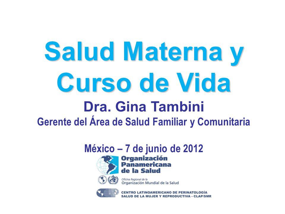 Salud Materna y Curso de Vida Dra.