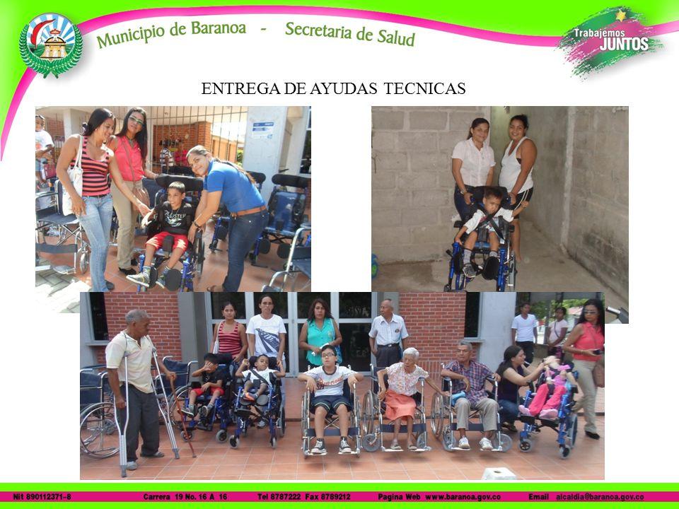ENTREGA DE AYUDAS TECNICAS