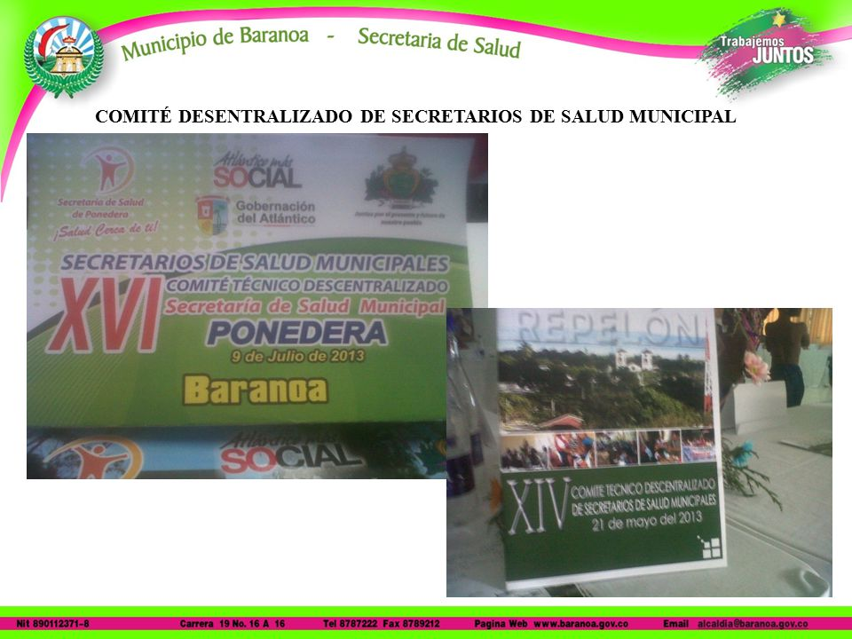 COMITÉ DESENTRALIZADO DE SECRETARIOS DE SALUD MUNICIPAL