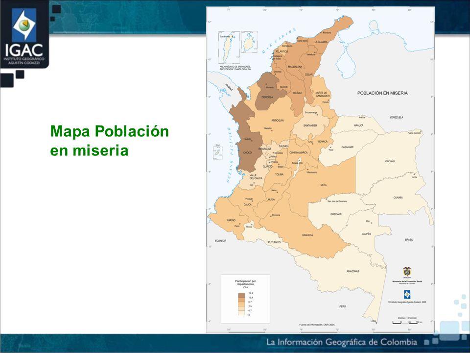 Mapa Población en miseria