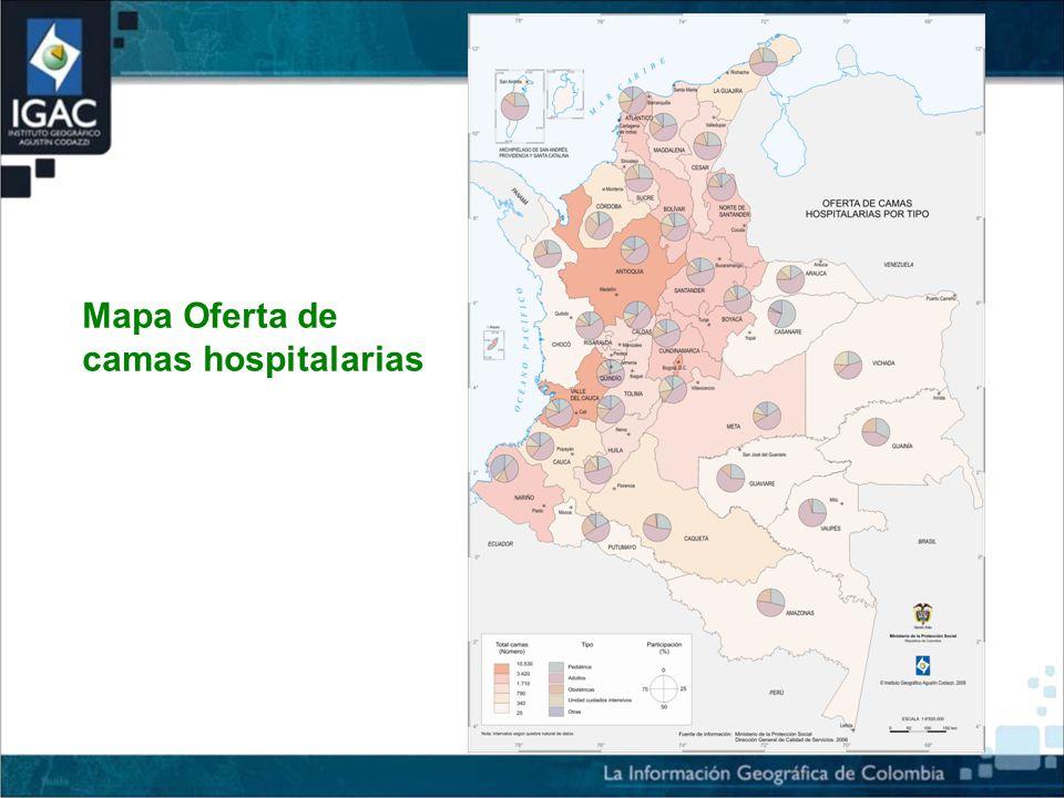 Mapa Oferta de camas hospitalarias