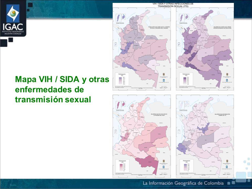 Mapa VIH / SIDA y otras enfermedades de transmisión sexual