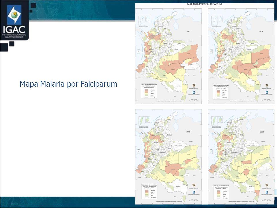 Mapa Malaria por Falciparum