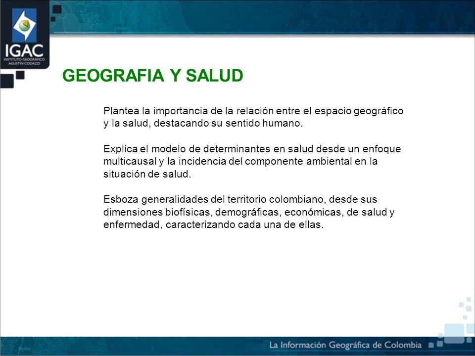 Plantea la importancia de la relación entre el espacio geográfico y la salud, destacando su sentido humano.