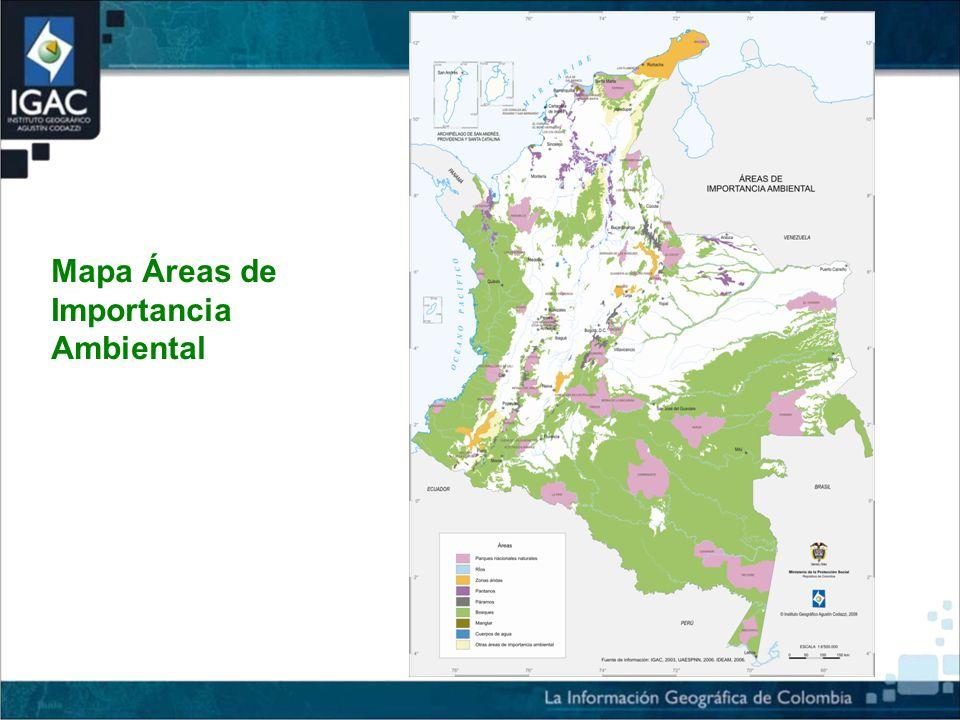 Mapa Áreas de Importancia Ambiental