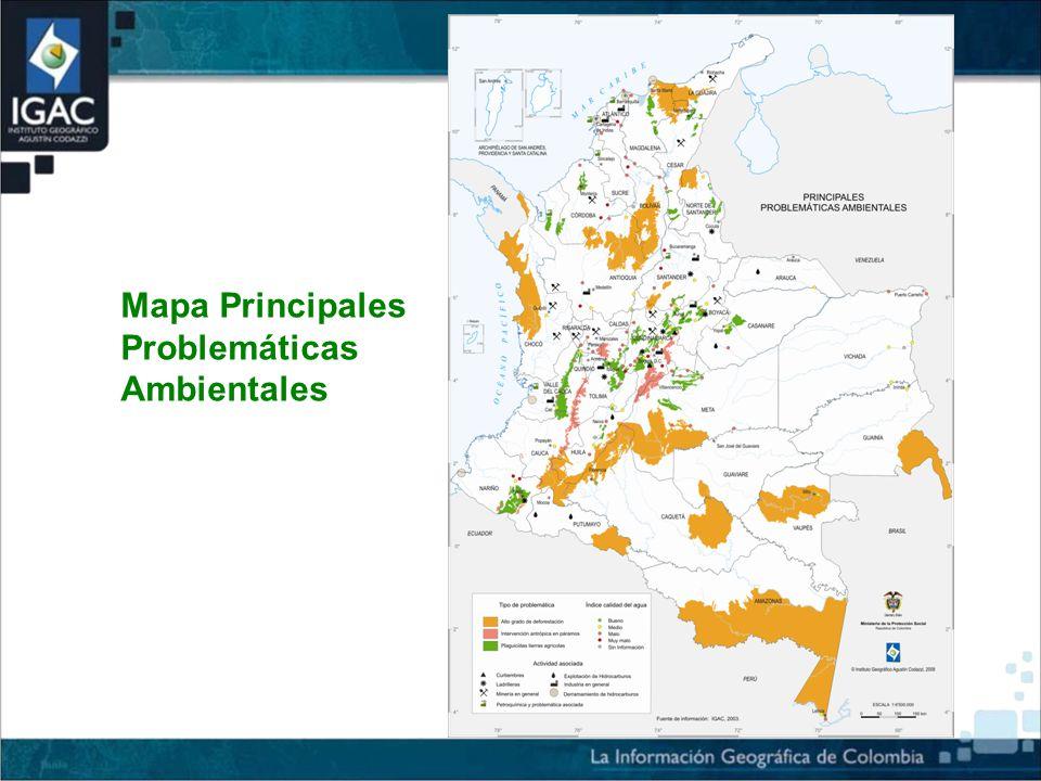 Mapa Principales Problemáticas Ambientales