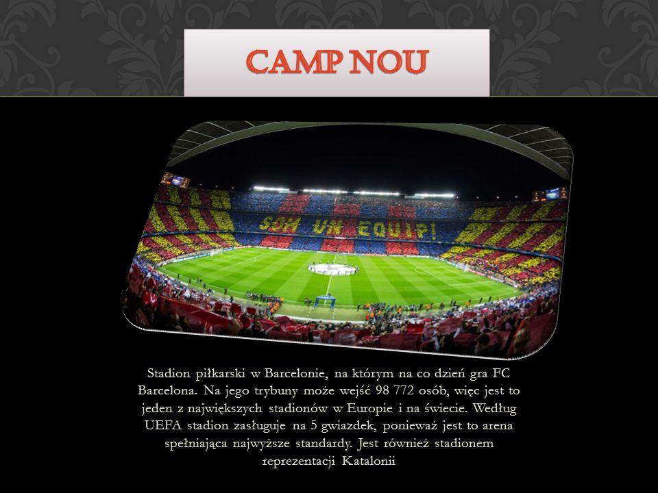 Stadion piłkarski w Barcelonie, na którym na co dzień gra FC Barcelona.