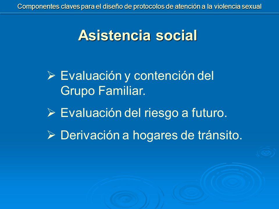 Asistencia social  Evaluación y contención del Grupo Familiar.