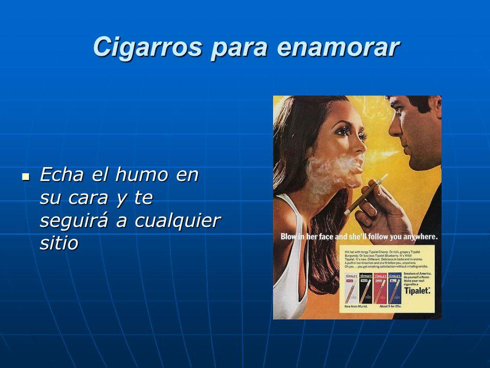Cigarros para enamorar Cigarros para enamorar Echa el humo en su cara y te seguirá a cualquier sitio Echa el humo en su cara y te seguirá a cualquier sitio