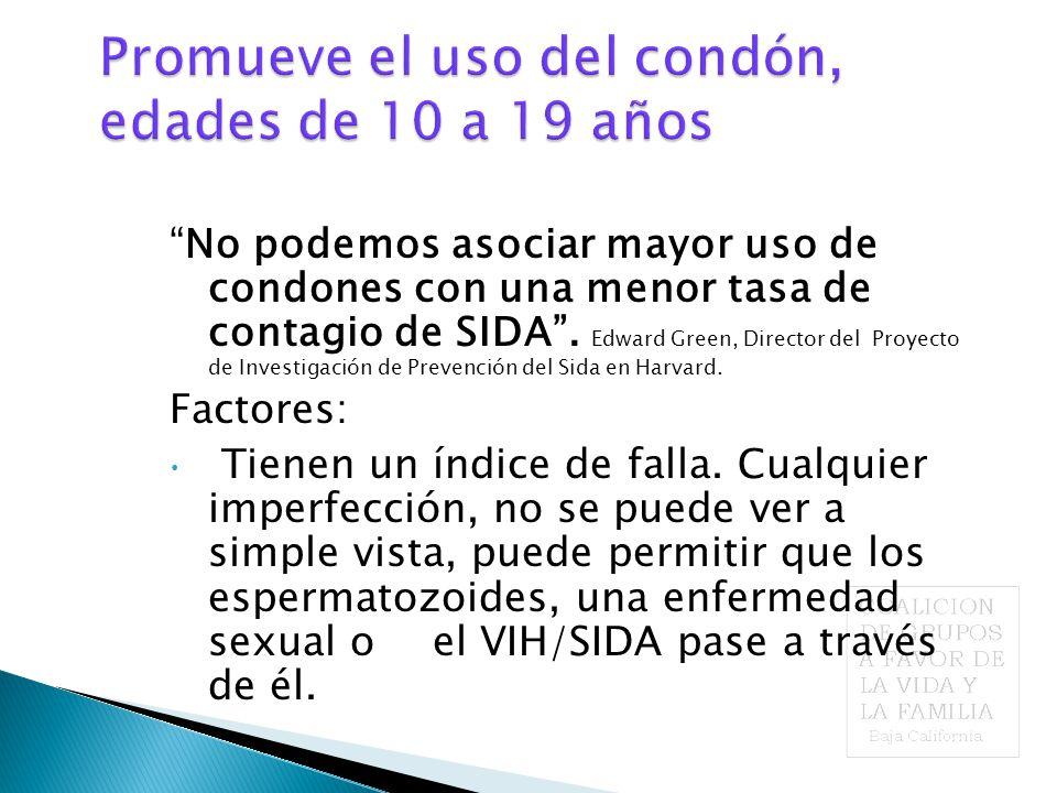 No podemos asociar mayor uso de condones con una menor tasa de contagio de SIDA .