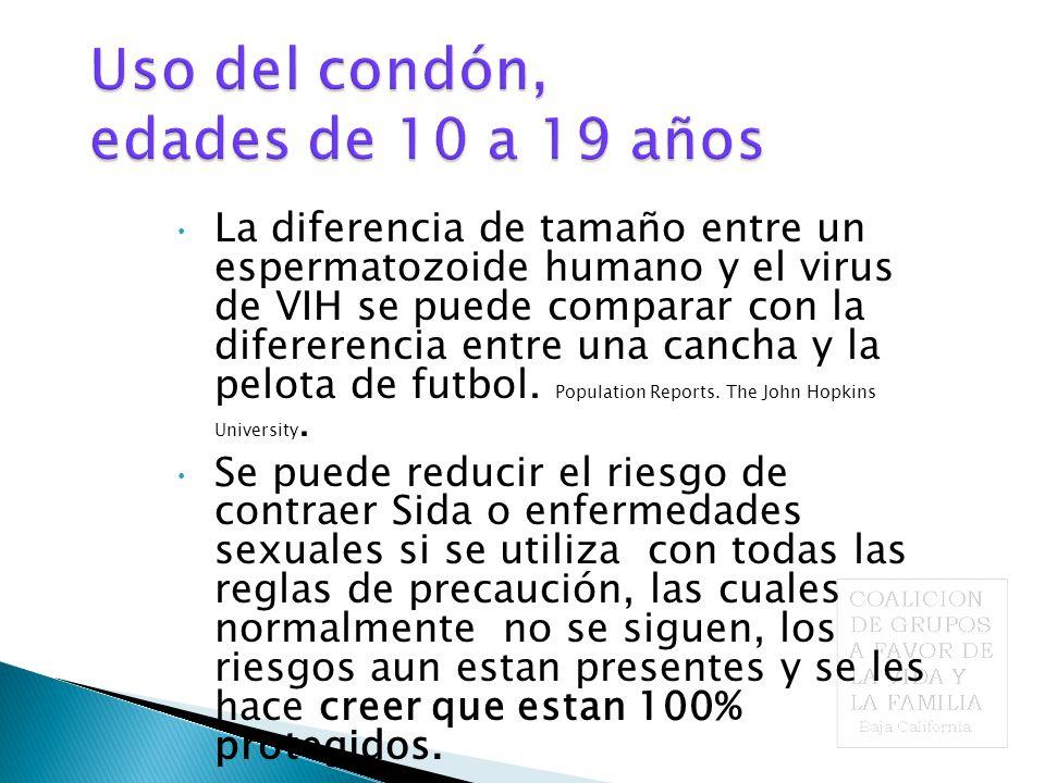 La diferencia de tamaño entre un espermatozoide humano y el virus de VIH se puede comparar con la difererencia entre una cancha y la pelota de futbol.