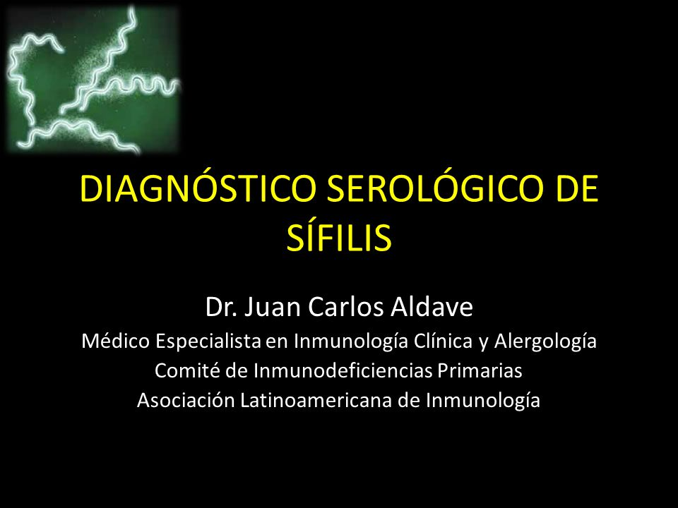 DIAGNÓSTICO SEROLÓGICO DE SÍFILIS Dr.