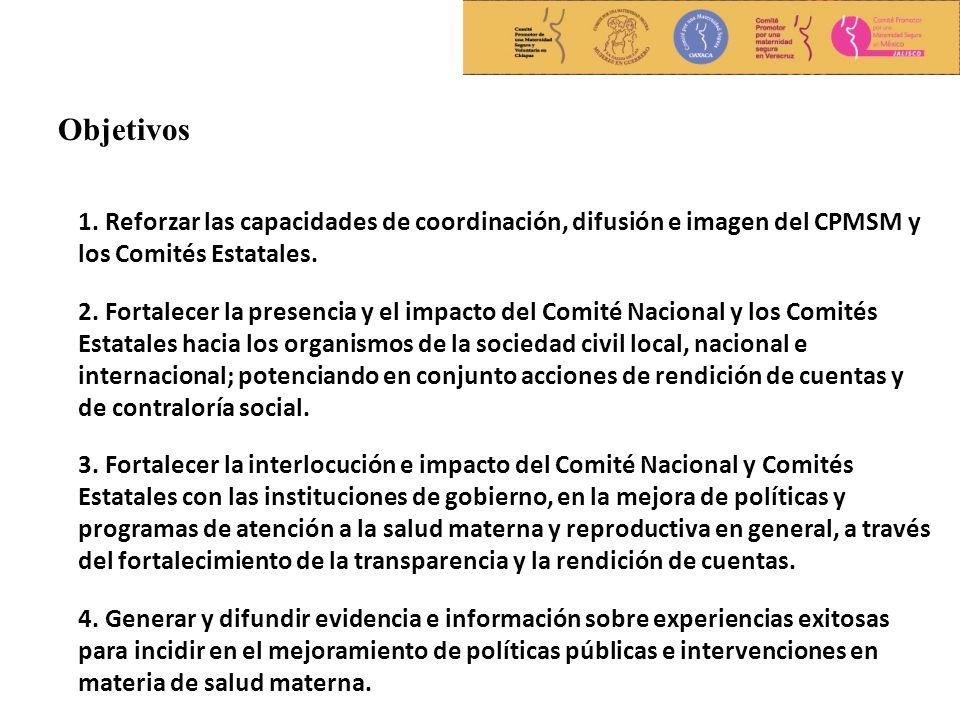 1. Reforzar las capacidades de coordinación, difusión e imagen del CPMSM y los Comités Estatales.