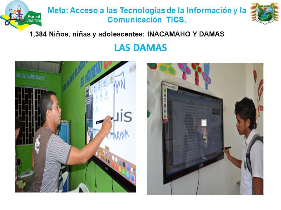 Meta: Acceso a las Tecnologías de la Información y la Comunicación TICS.