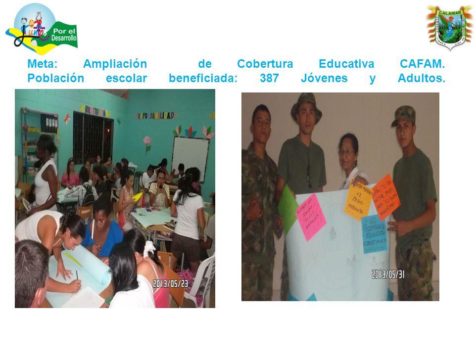 Meta: Ampliación de Cobertura Educativa CAFAM.