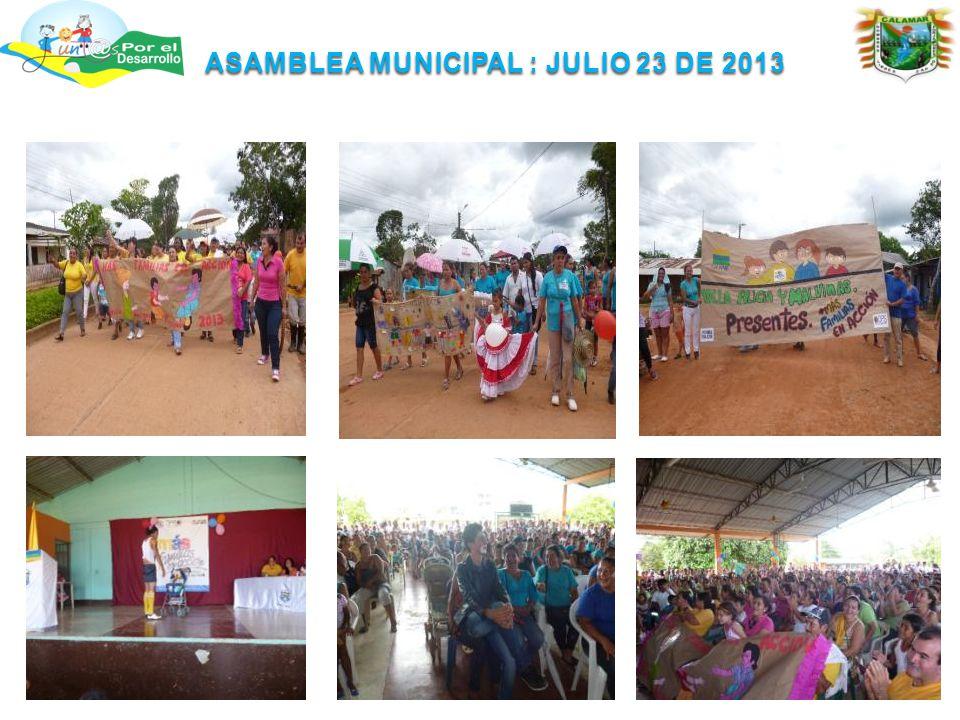 ASAMBLEA MUNICIPAL : JULIO 23 DE 2013
