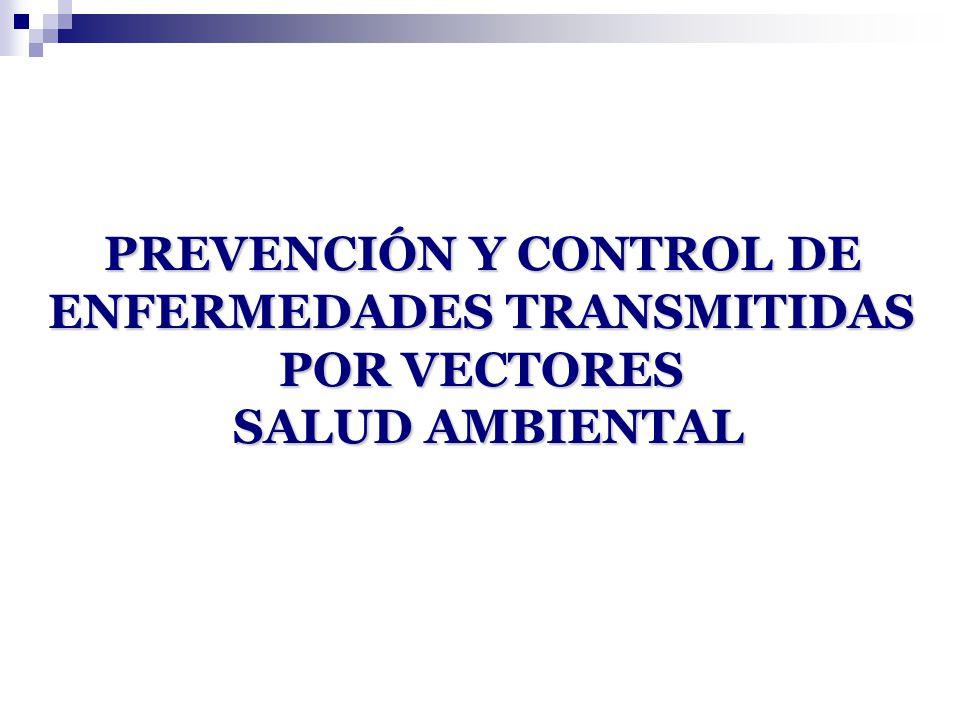 PREVENCIÓN Y CONTROL DE ENFERMEDADES TRANSMITIDAS POR VECTORES SALUD AMBIENTAL