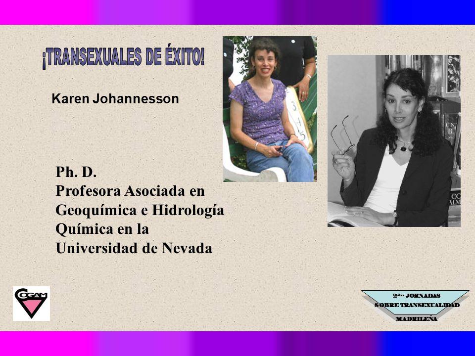2 das JORNADAS SOBRE TRANSEXUALIDAD MADRILEÑA Karen Johannesson Ph.